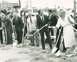 Ground is broken for the Eberhard Center